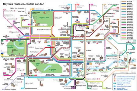 mapa autobus rutas londres tutorial instrucciones guia