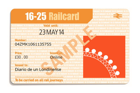16-25 railcard tren descuentos ahorro londres reino unido