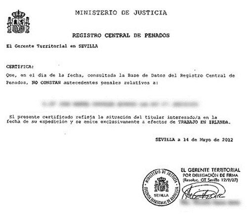 Certificado de antecedentes penales diario de un londinense - Ejemplo certificado energetico piso ...
