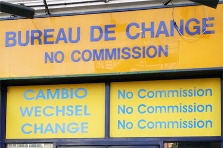 casa cambio londres comision euro libras listado mejores exchange rate bureau change london