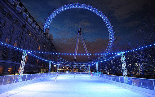 london eye pista patinaje hielo londres informacion