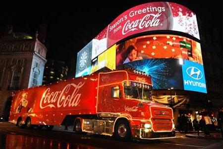 camion navidad cocacola londres