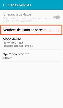 giffgaff internet android configuracion apn conexion datos
