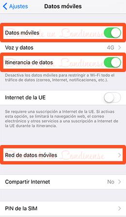 giffgaff internet iphone configuracion apn conexion datos