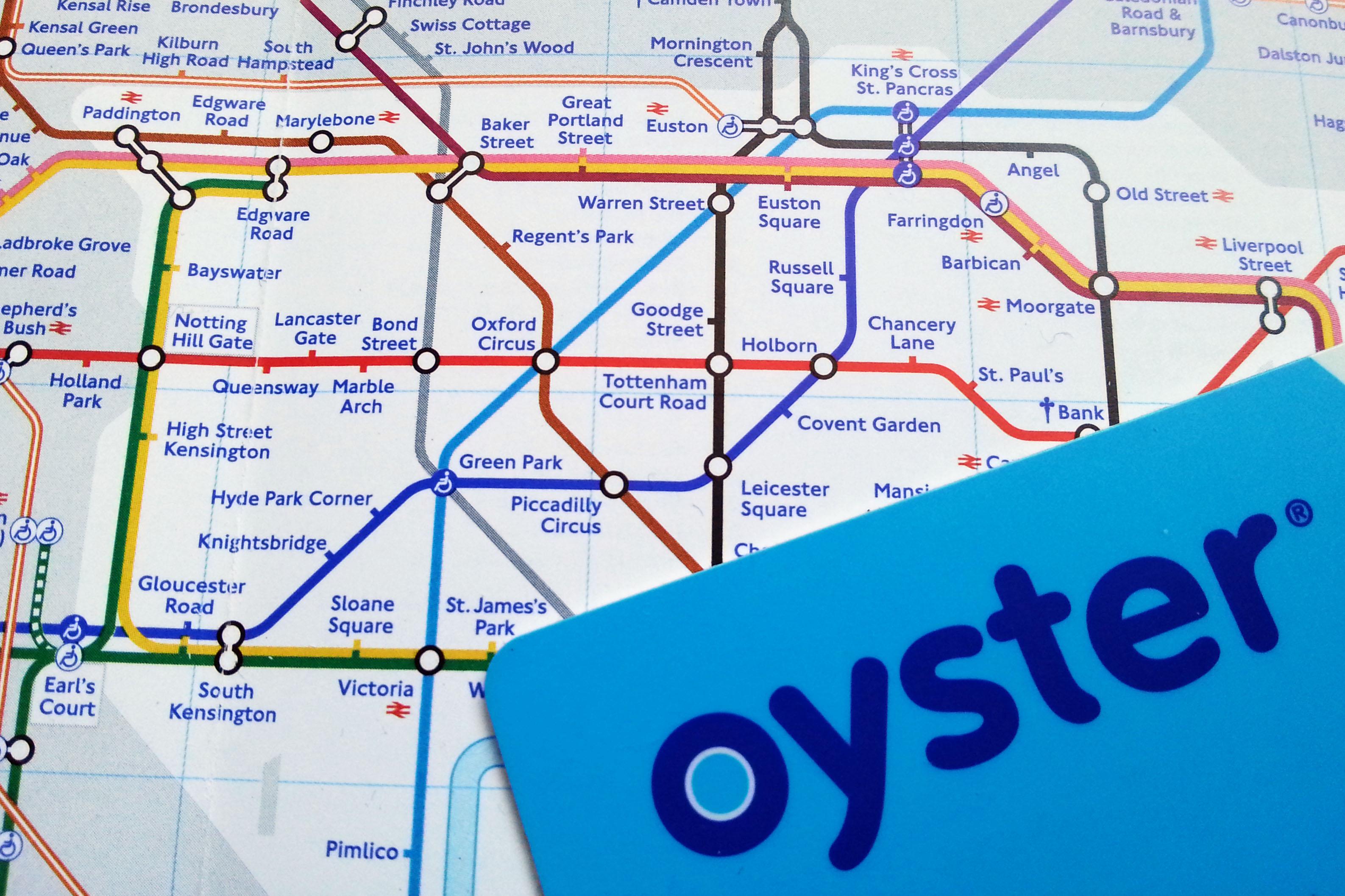 oyster metro tube map zonas tarifas precio diario londinense