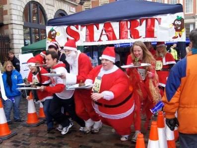 Great-Christmas-Pudding-Race-londres-covent-garden-navidad