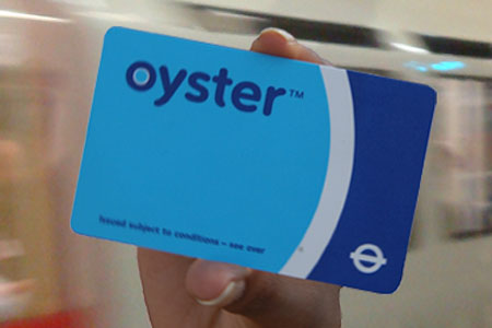 oyster card metro londres