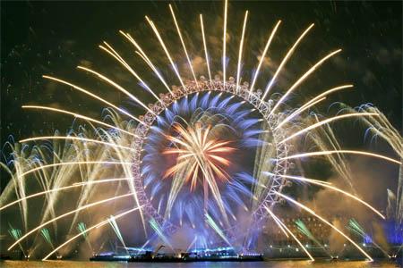 london eye nochevieja fuegos artificiales