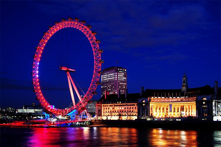 pink london eye